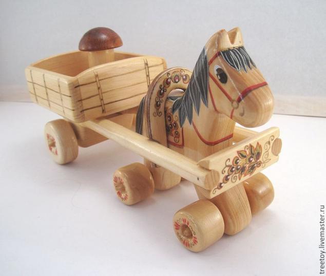 розыгрыш конфетки, лошадка, игрушка из дерева
