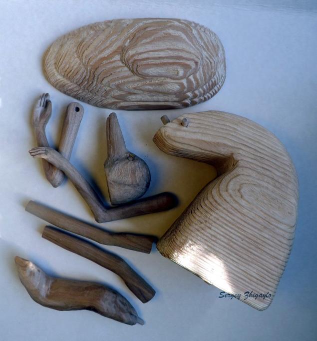 авторский, из дерева, деревянные, резьба, продавец пуговиц