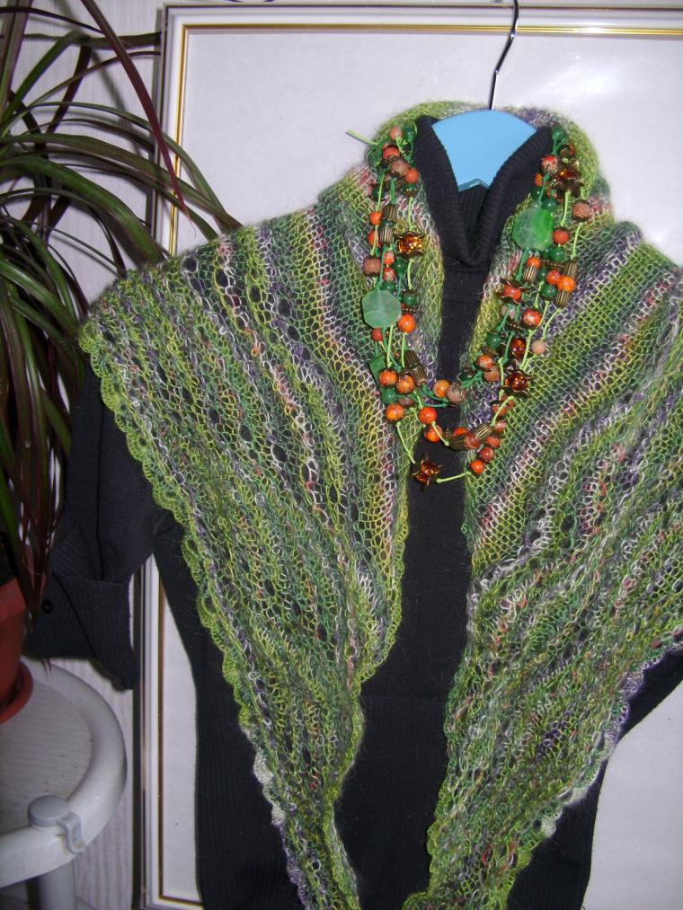 весенний шарф, весна 2015, светло-зеленый, стильный аксессуар