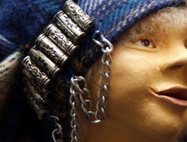 кукла из глины, солнышко