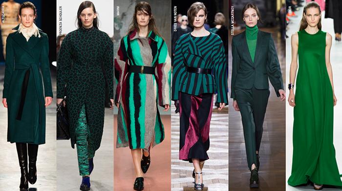зеленый, мода