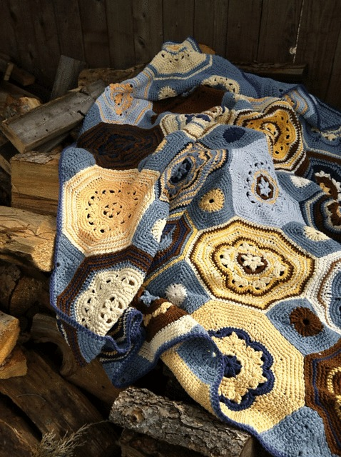 I love the interplay of colors in the Moorish Mosaic Afghan.