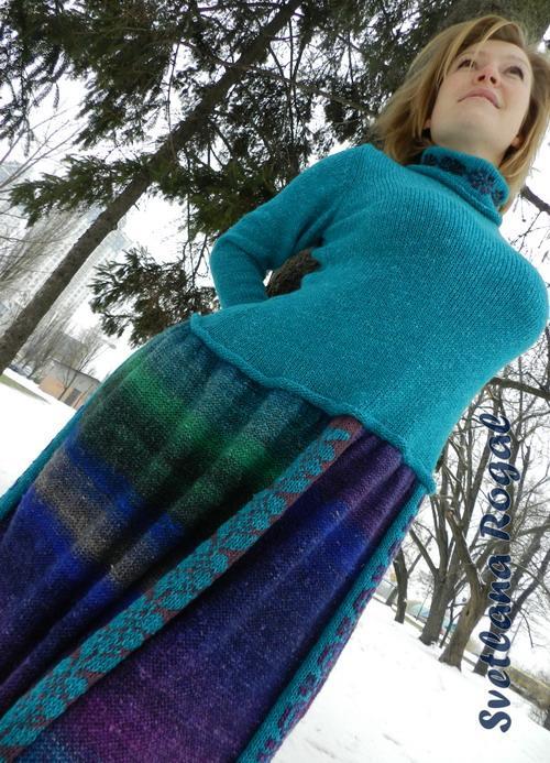 готовая работа, норо, пряжа норо, вязание, авторское платье