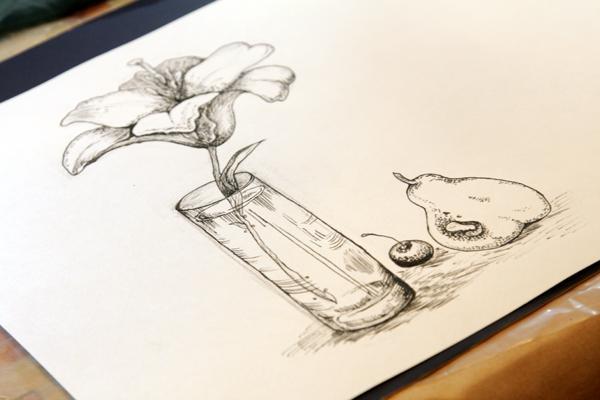 мастер-класс, рисование тушью