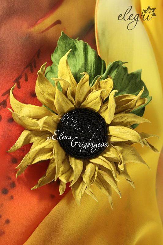 обучение цветы, кожаный цветок, купить подсолнух, цветы от elegri, обучение цветы кожа, елена григорьева цветы, эксклюзивные цветы