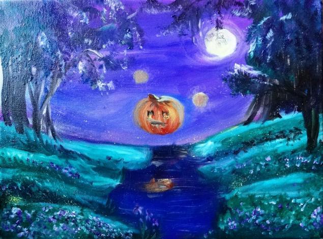 хэллоуин, аромат, картина, образ, сказка, страшная, зачарованная, тыква, фиалки, парфюм, парфюмерная, коллекция