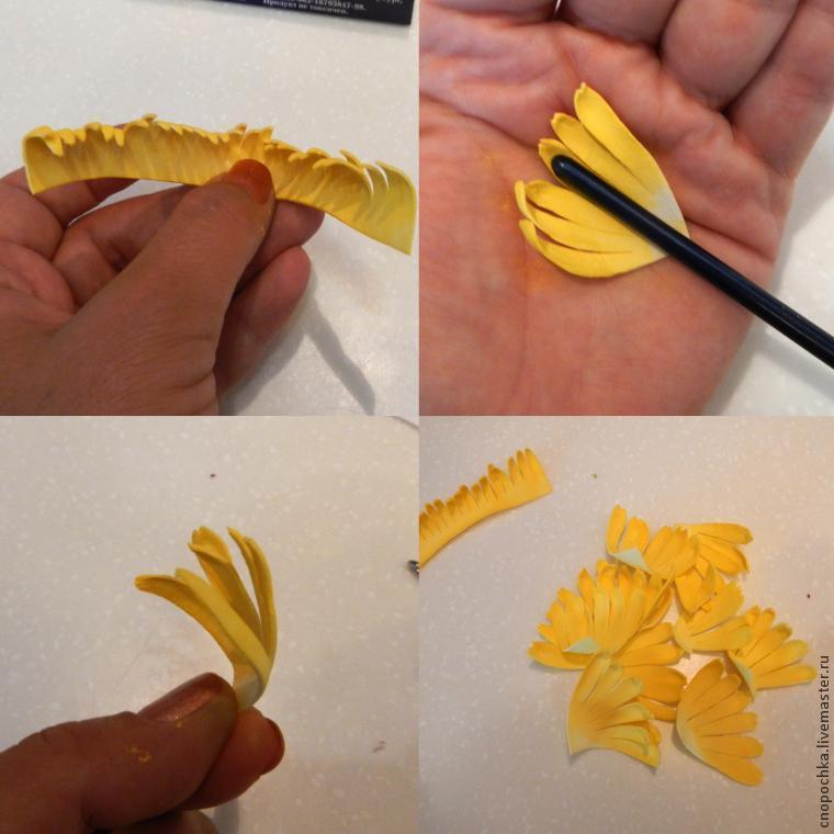 Хризантемы из фоамирана своими руками с пошаговым фото для начинающих схема 95