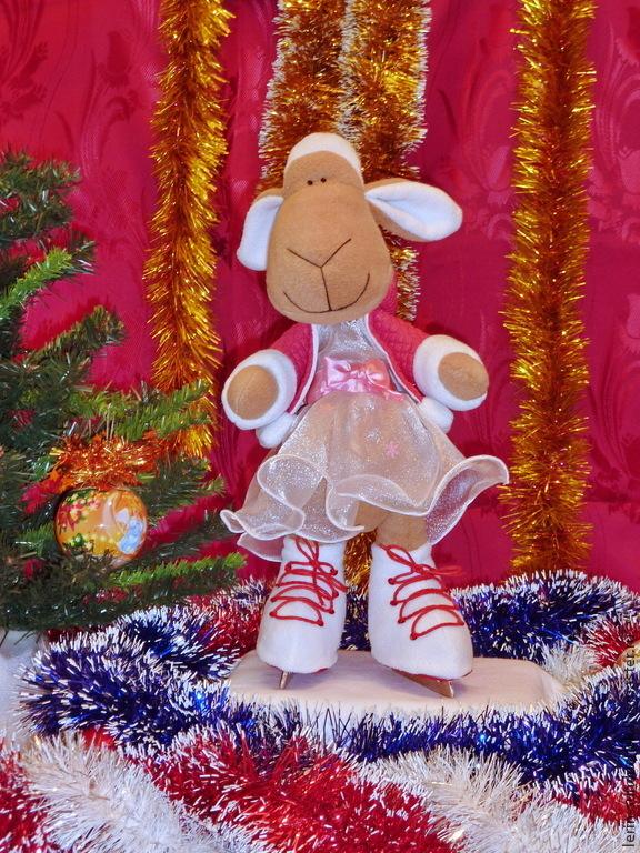 овечка, новогодняя овечка, овечка фигуристка, новый 2015 год, подарок 2015, новогодний подарок, новогодний конкурс