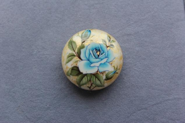 япония, овальная бусина, роза, подарок для мастера