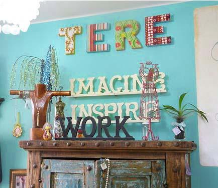 Мысли на виду! (или 60 идей декора стен с помощью слов, букв и цифр), фото № 31