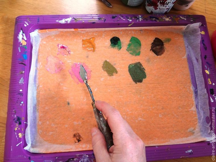 Как сделать палитру для акриловых красок