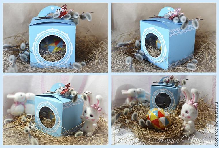 Мастер-класс: пасхальное яйцо в гнезде и подарочной коробочке, фото № 18