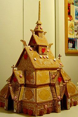 Norwegian Gingerbread House in Tudor Style ... very intricate detailing and creativity exhibited ... cute !