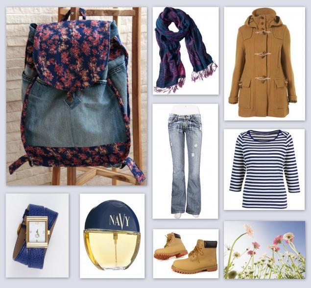 рюкзак, джинсовый рюкзак, джинсы, советы, сочетание цветов
