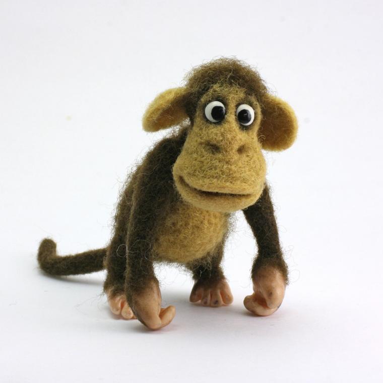 ацикулярис, обезьянка, валяние из шерсти, ирина егорова ацикулярис