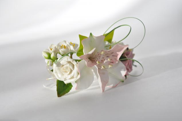 аукцион сегодня, цветочная заколка, подарок для женщины