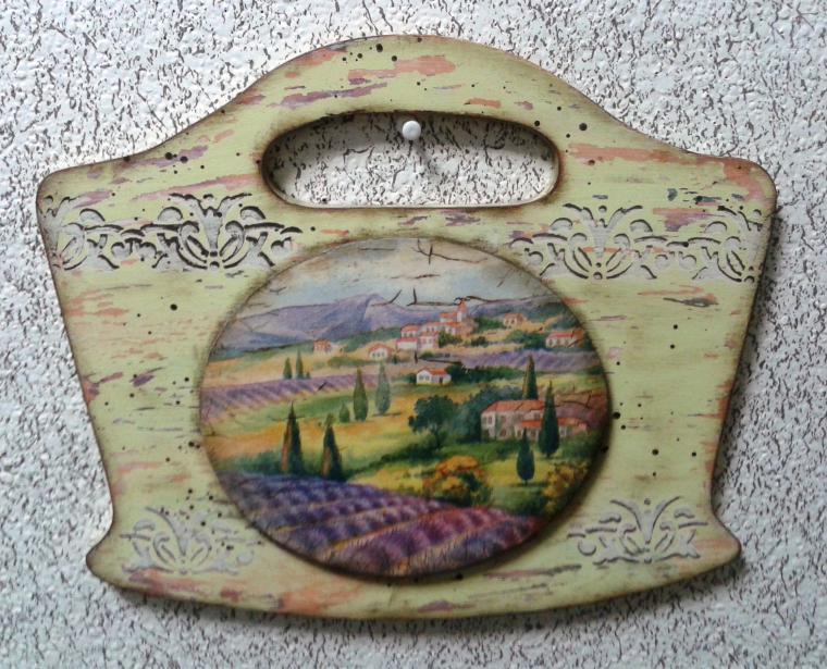 Вешалка с медальоном «Под Солнцем Тосканы». Декупаж., фото № 2