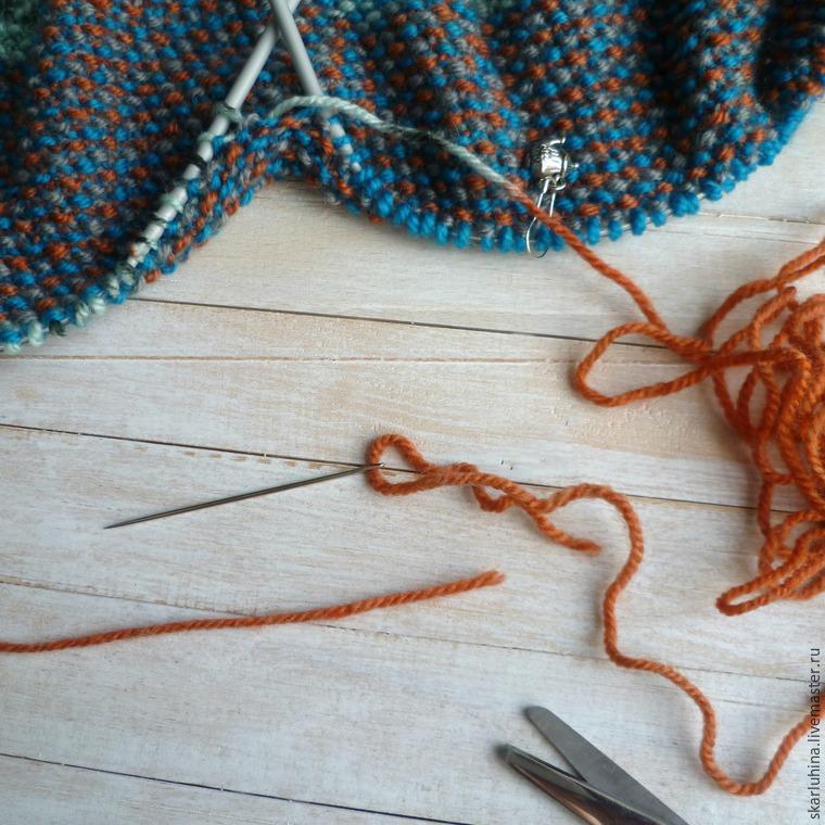 Вязание спицами соединить нить при вязании 867
