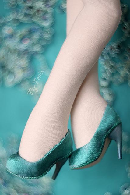 Туфли из бумаги для куклы
