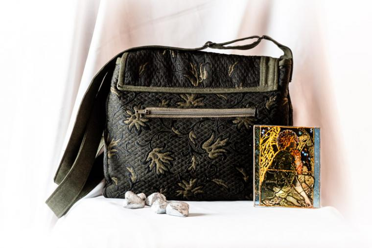 сумка женская, тёмно-зеленый, шью на заказ