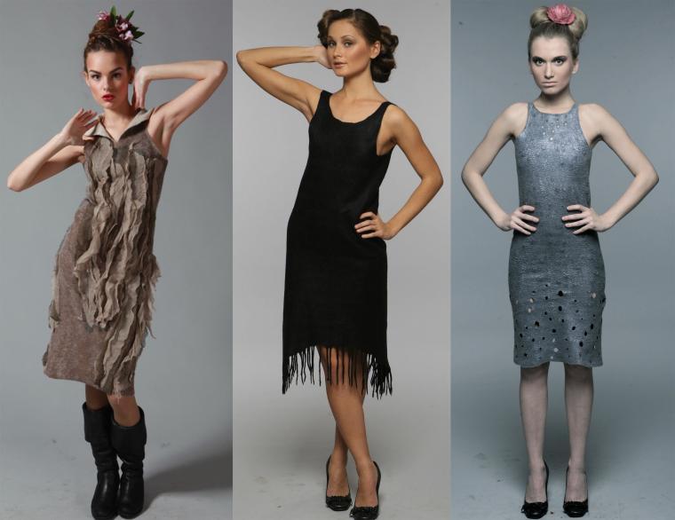 войлочное платье