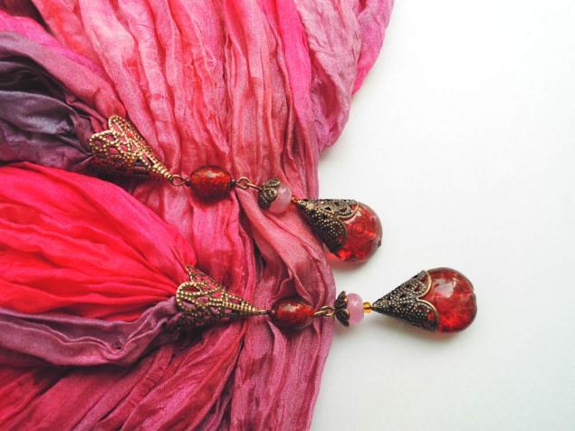 шибори, шелковый палантин, палантин с подвесками