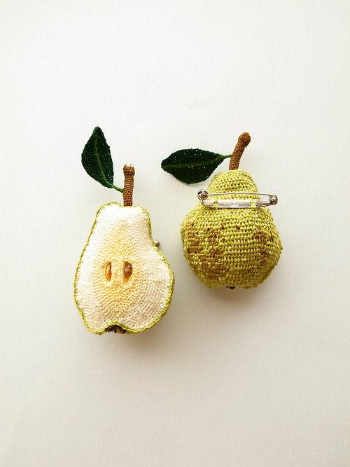 Связать крючком фрукты или овощи