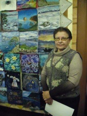 байкал, пейзаж, валяное панно, шерстяная акварель, байкальский пейзаж, картина из войлока, панно байкал