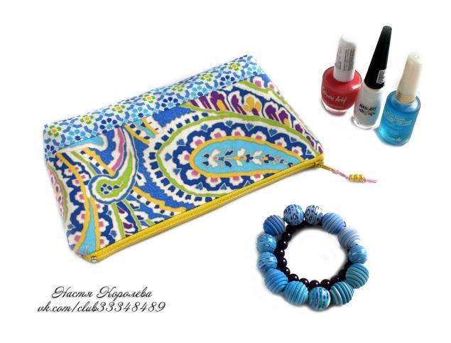 косметичка ручной работы, косметичка текстильная, подарок маме, женский подарок, рождество