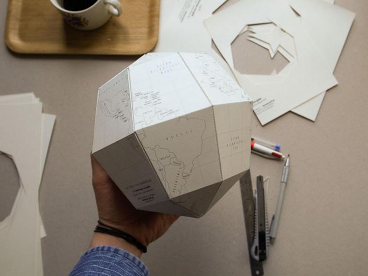 Как из бумаги сделать глобус 221