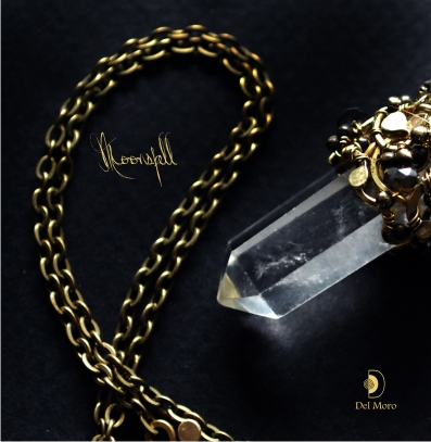кристалл, кулон с хрусталём, гребень с камнями, украшение в волосы, украшение для невесты, кулон