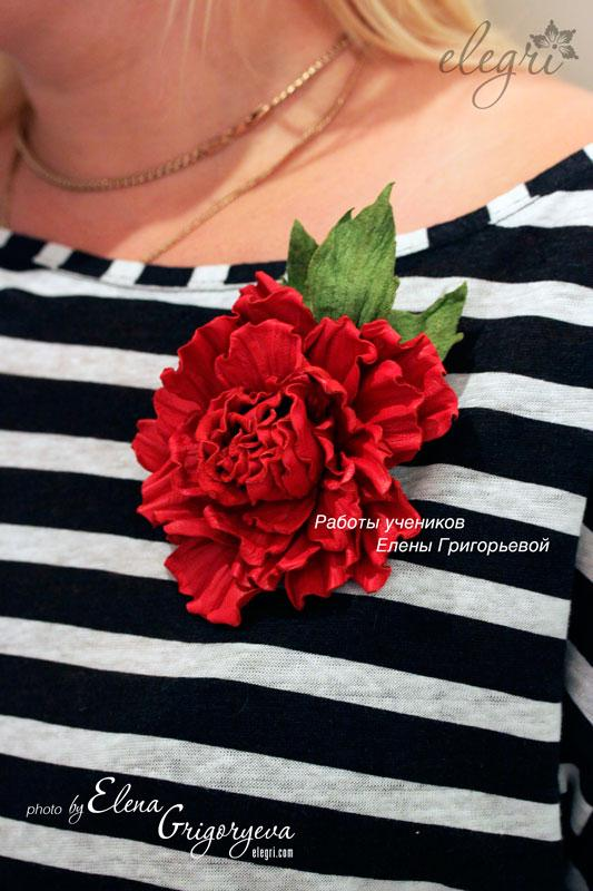замшевый цветок