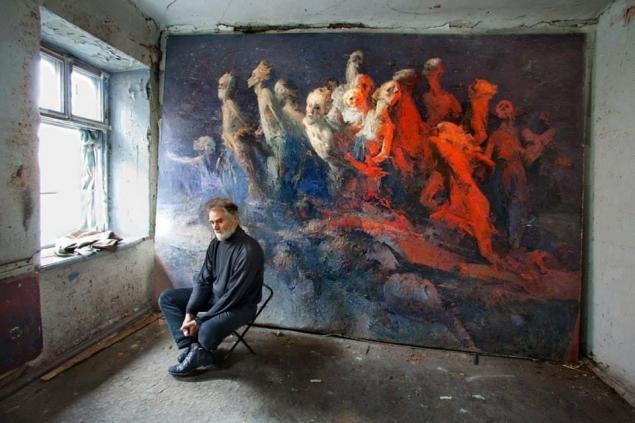 художник, фотография худохника, фотоискусство, художник в мастерской