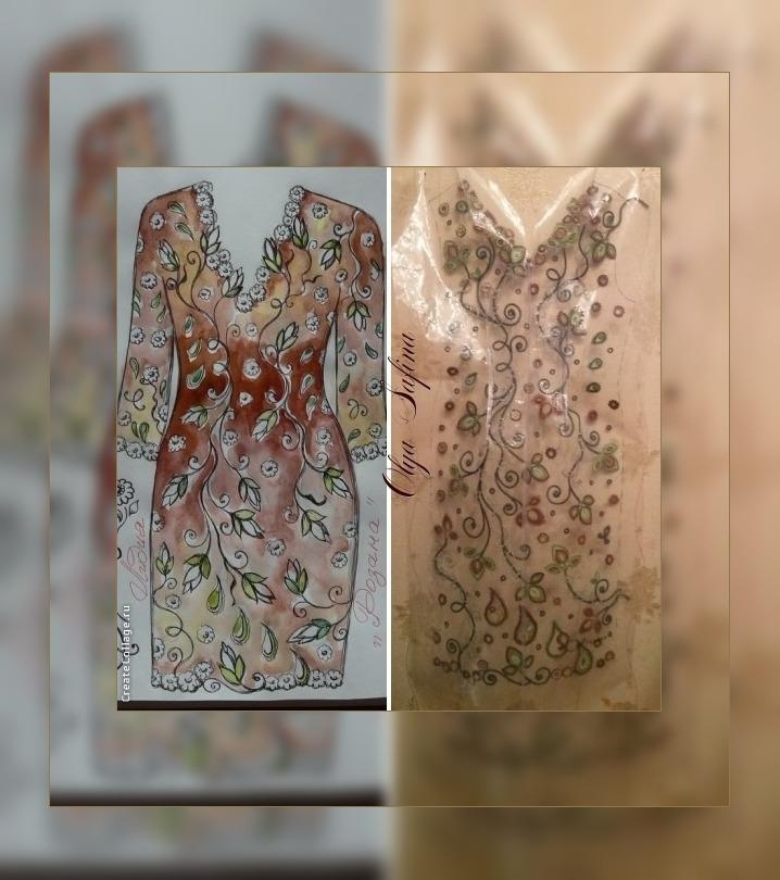 кружево ручной работы, египто 25, эскиз, платье вечернее