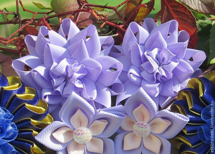 Собираем простой цветочек из ленты, фото № 21