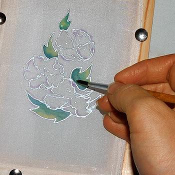 Как покрасить открытку, добрым утром для