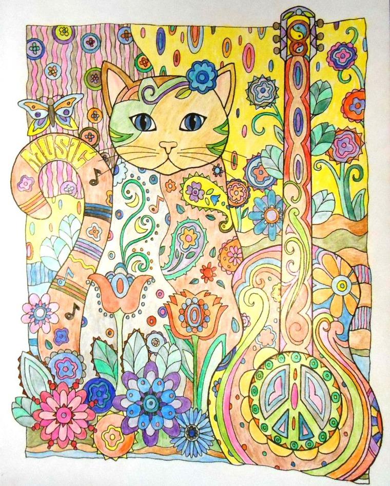 антистресс, раскраска, котики, карандаши