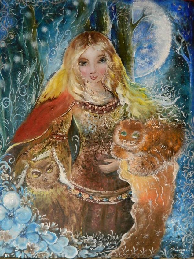 картина, сказка, сказочные персонажи, картина сказка, фэнтези, фантазийная картина, картина принцесса, картина маслом