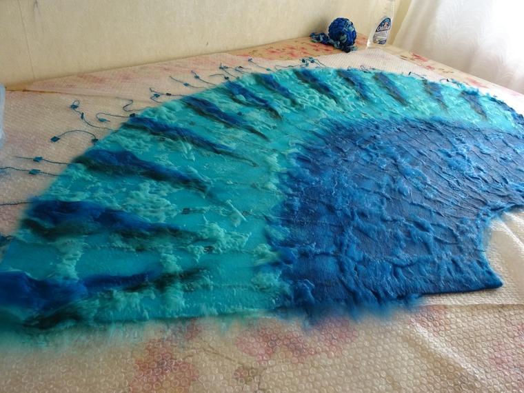 сине-бирюзовая юбка