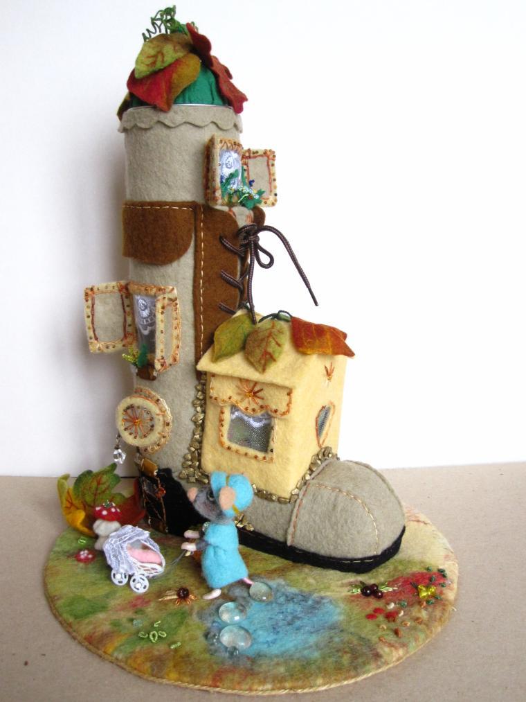 игрушки из шерсти, кукольный дом, мышонок, украшение интерьера