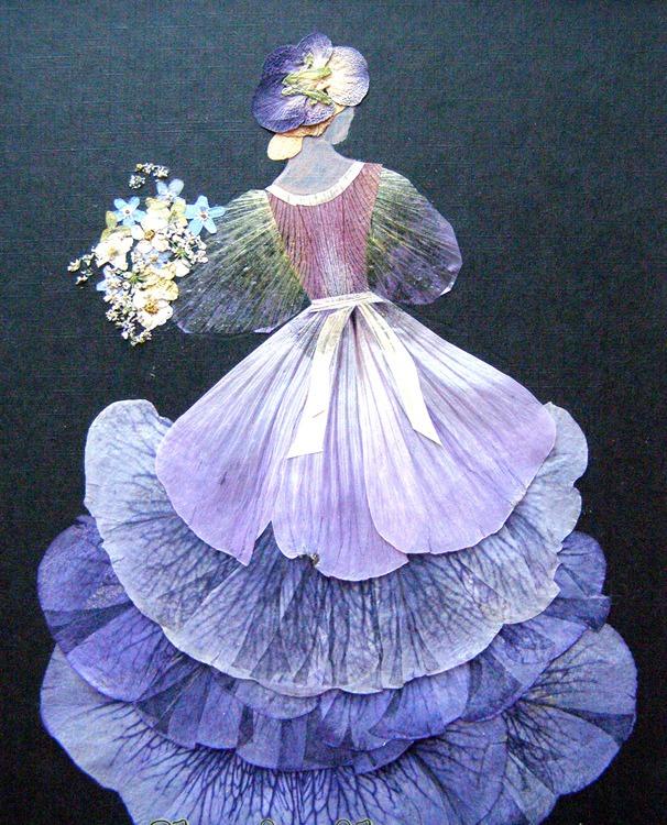 Картина из лепестков цветов своими руками