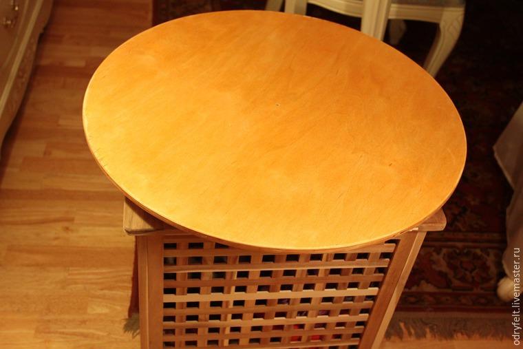 Мастерим поворотный стол для раскладки шерсти на шаблоне, фото № 4