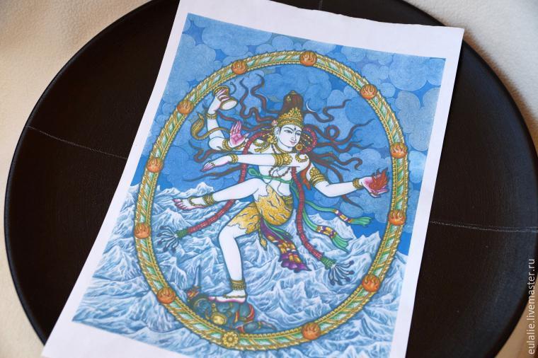 Мастер-класс по точечной росписи: тарелка-панно «танцующий Шива», фото № 3