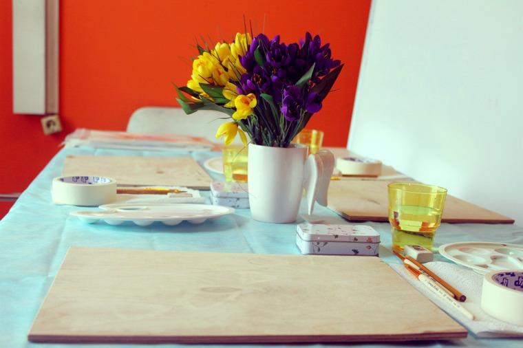 цветы акварелью, арт-студия