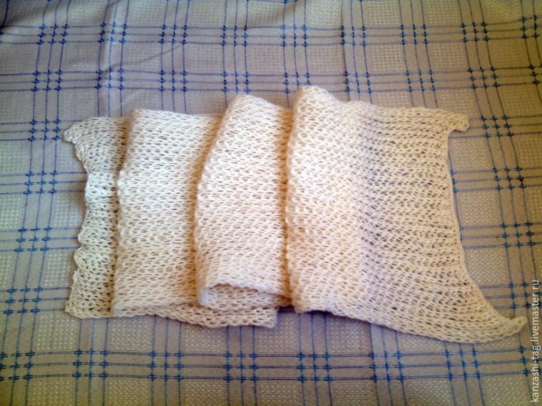 Красим старый шарф с помощью красителей для яиц, фото № 1