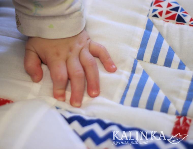 одеяло лоскутное, морская тема