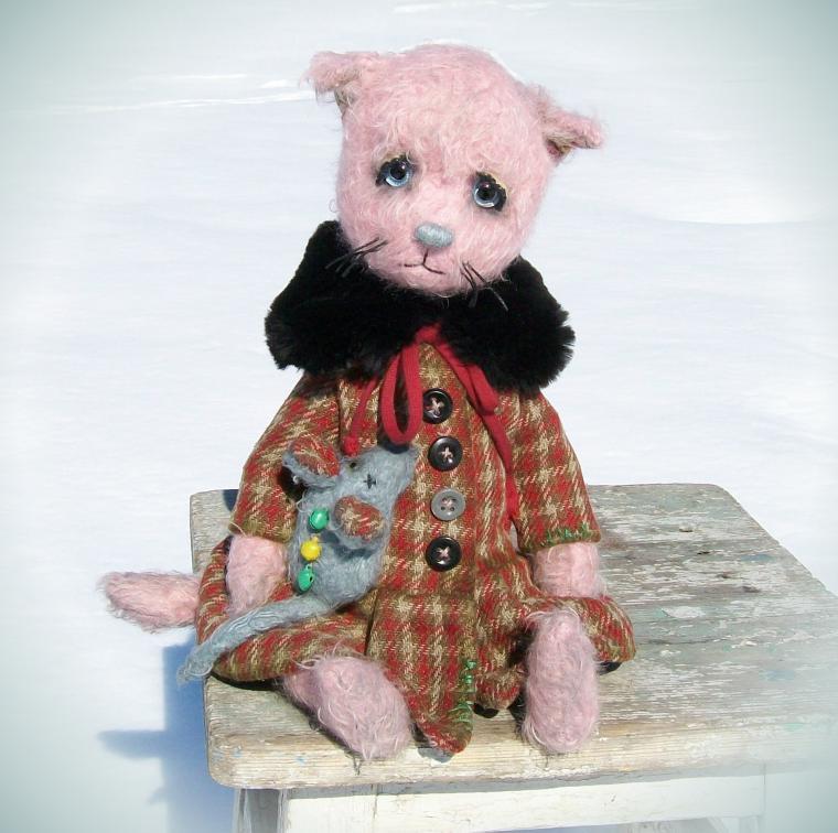 котенок тедди, винтажная кукла