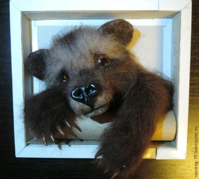 «Пробирается медведь сквозь лесной валежник...». Создаем из шерсти панно «Пробуждение», фото № 19