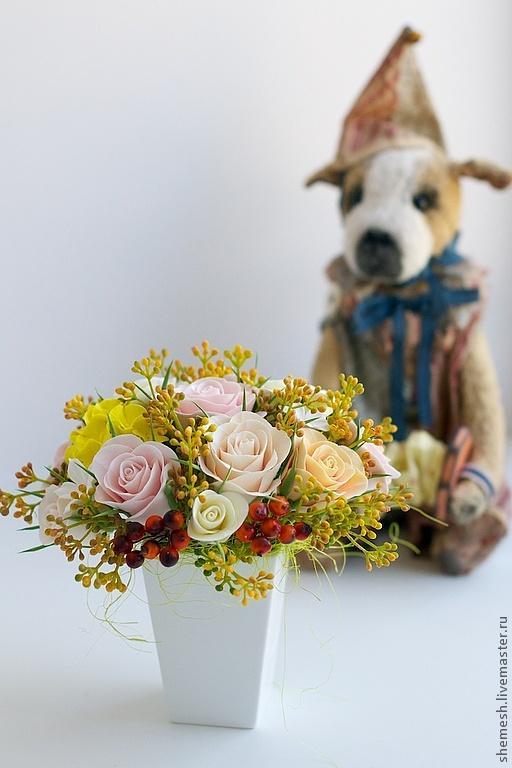 аукцион с нуля, букет, цветы ручной работы
