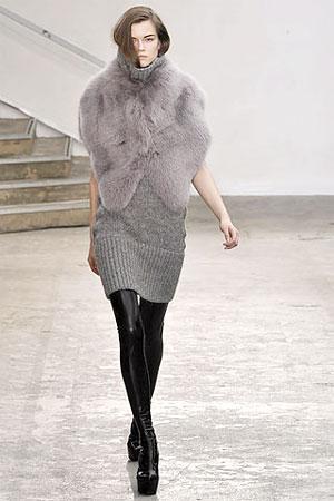 горжетка меховая, мода 2013